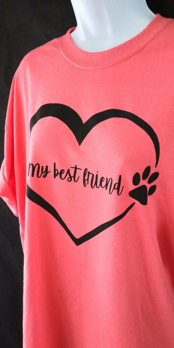My Best Friend (Heart & Paw) Shirt - coral