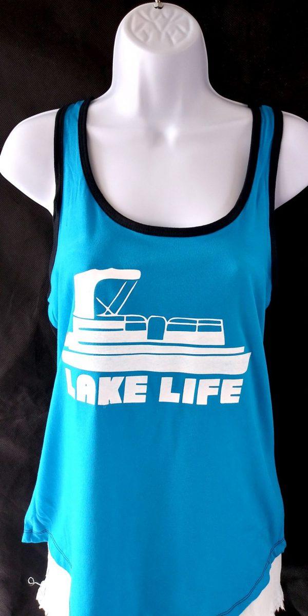 Turquoise Lake Life Tank top - pontoon