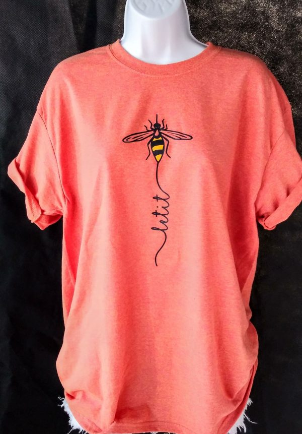 Let It Bee - Honey Bee Shirt in orange