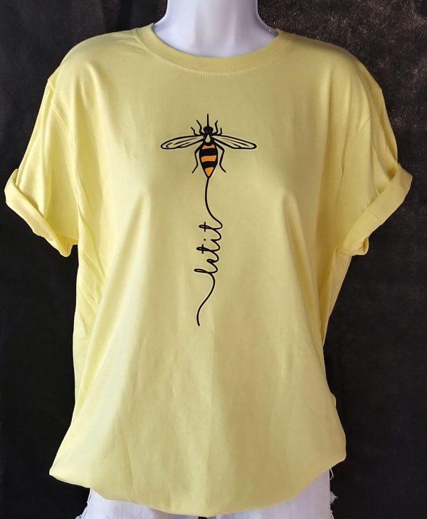 Let It Bee - Honey Bee Shirt in yellow