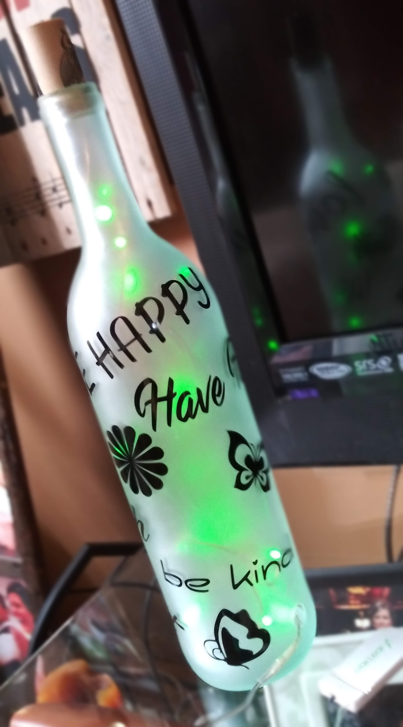 lighted etched wine bottle