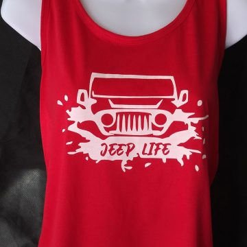 red Jeep Life Wrangler tank top