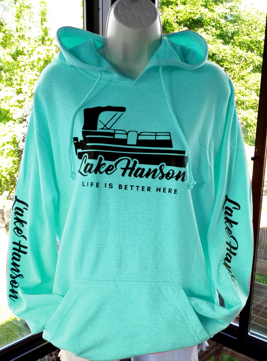 Lake Hanson Fleece Sweatshirt - Hoodie, Pullover charcoal - blue