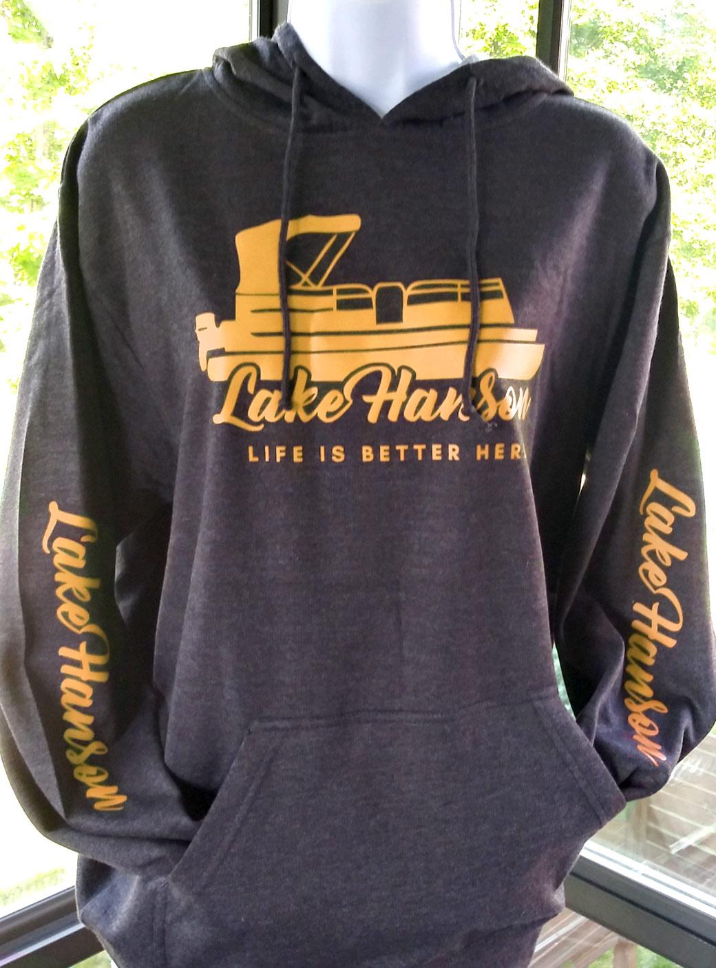 Lake Hanson Fleece Sweatshirt - Hoodie, Pullover charcoal - yellow
