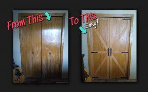 Bifold doors turned into barn doors