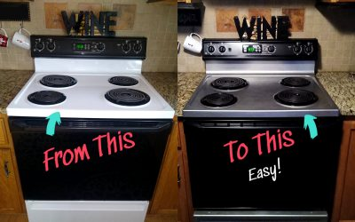 Paint your stove stainless steel