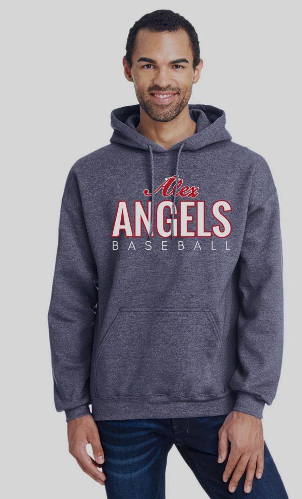 Heather Navy Mens/Unisex Alex Angels Gildan Sweatshirt
