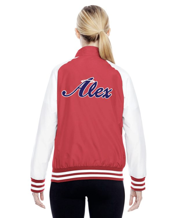 Womens Red Alex Angels Jacket front