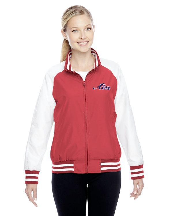 Womens Red Alex Angels Jacket back