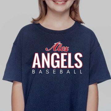 Navy Kids Gildan Alex Angels Tshirt