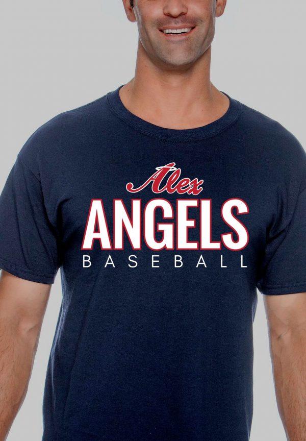 Navy Mens Gilden Alex Angels Tshirt