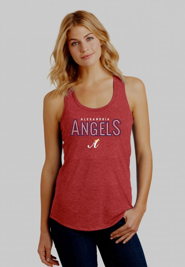 Red Frost Womens Alex Angels Tank Top