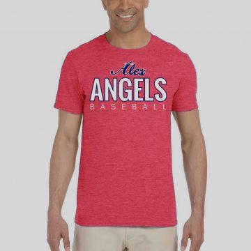 Red Heather Mens Gilden Alex Angels Tshirt