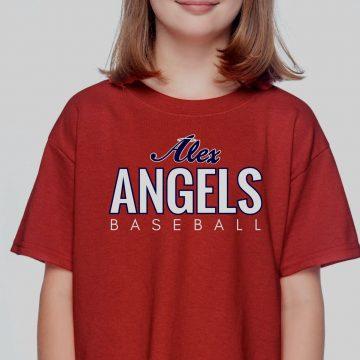 Red Kids Gildan Alex Angels Tshirt