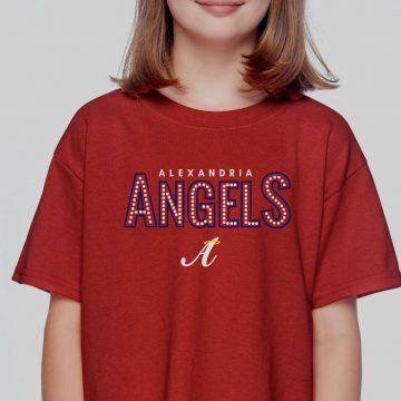 Red Kids Gildan Alex Angels Tshirt (w/Dot Design)