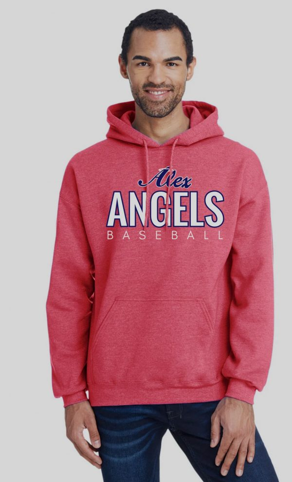 Heather Red Mens/Unisex Alex Angels Gildan Sweatshirt
