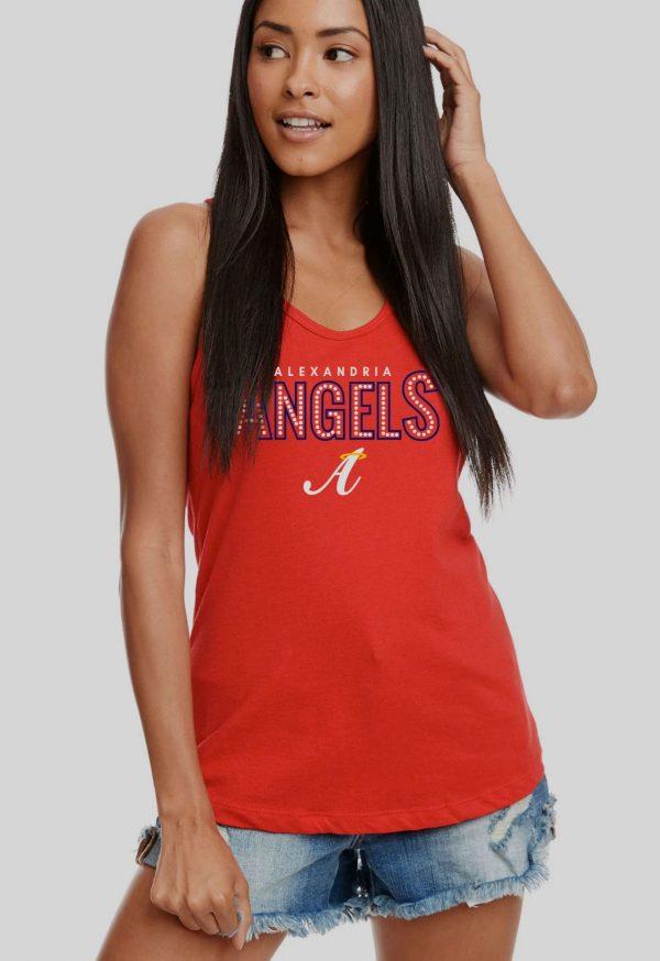 Red Womens Alex Angels Racerback Tank Top