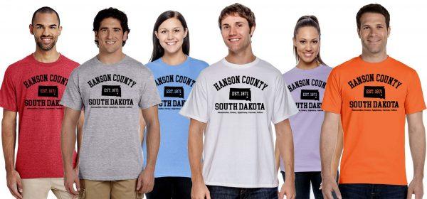 Hanson County, SD (South Dakota) Tshirt - 150 Years Tribute!