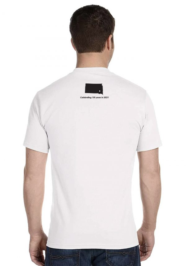 Back Design - Hanson County, SD (South Dakota) Tshirt - 150 Years Tribute!