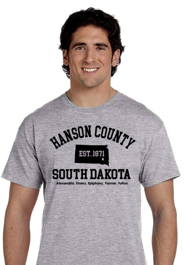 Heather Gray Hanson County, SD (South Dakota) Tshirt - 150 Years Tribute!