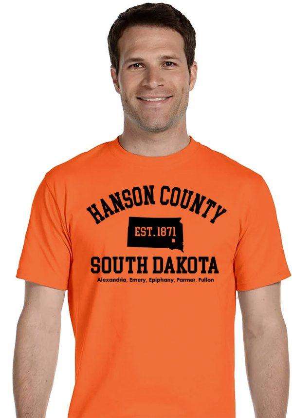 Orange Hanson County, SD (South Dakota) Tshirt - 150 Years Tribute!